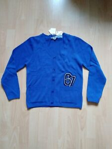 BONPOINT BOYS CARDIGAN AGE 10 £135 BLUE WOOL NEW WITH TAGS PARIS FRANCE KNIT JUM
