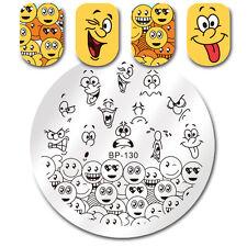 Nail Art Round Stamping Plate Emoji Facial Expression Plates BORN PRETTY BP-130