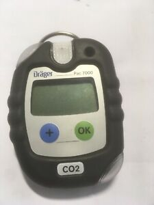DRAGER-PAC-7000-CO2-GAS-MONITOR-Detector-8318975-BATTERY-RUNS-OUT