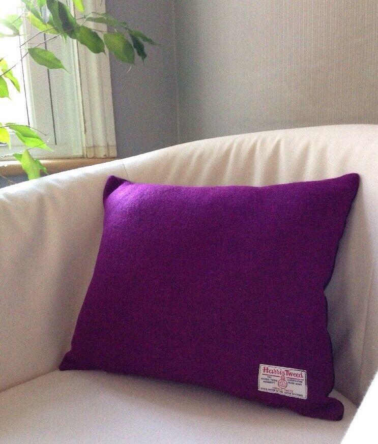 in vendita scontato del 70% 2 2 2 Harris Tweed Viola Magenta rosa Designers Guild Velluto 18  Copricuscino scuro  risposta prima volta