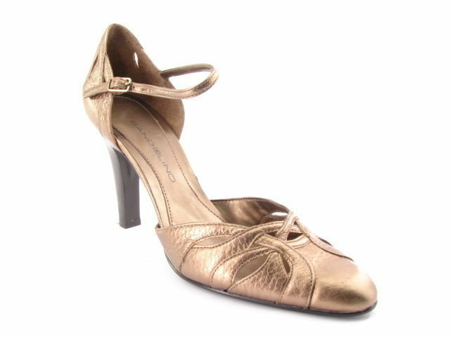 New BANDOLINO Damens Bronze Leder Pump Slingback  Ankle M Strap Schuhe Sz 7.5 M Ankle 51cdaf