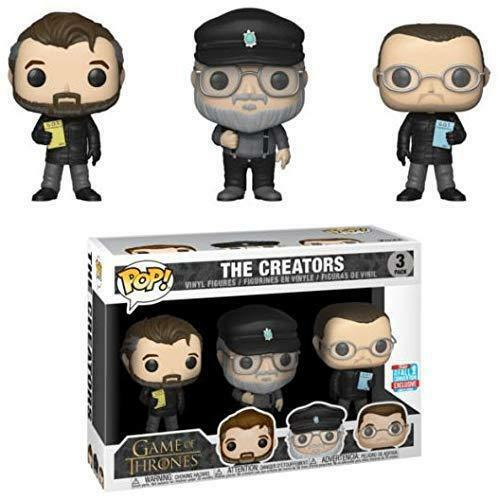 EXCLUSIVE GAME OF THRONES THE CREATORS  3 PACK 3.75  POP VINYL FUNKO R.R.MARTIN