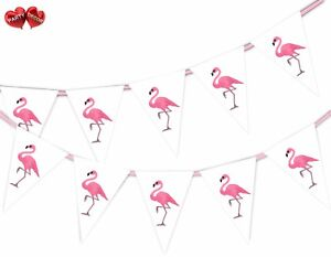 Exotic-Summer-Bunting-Banner-15-flags-Pink-Flamingo-by-Party-Decor