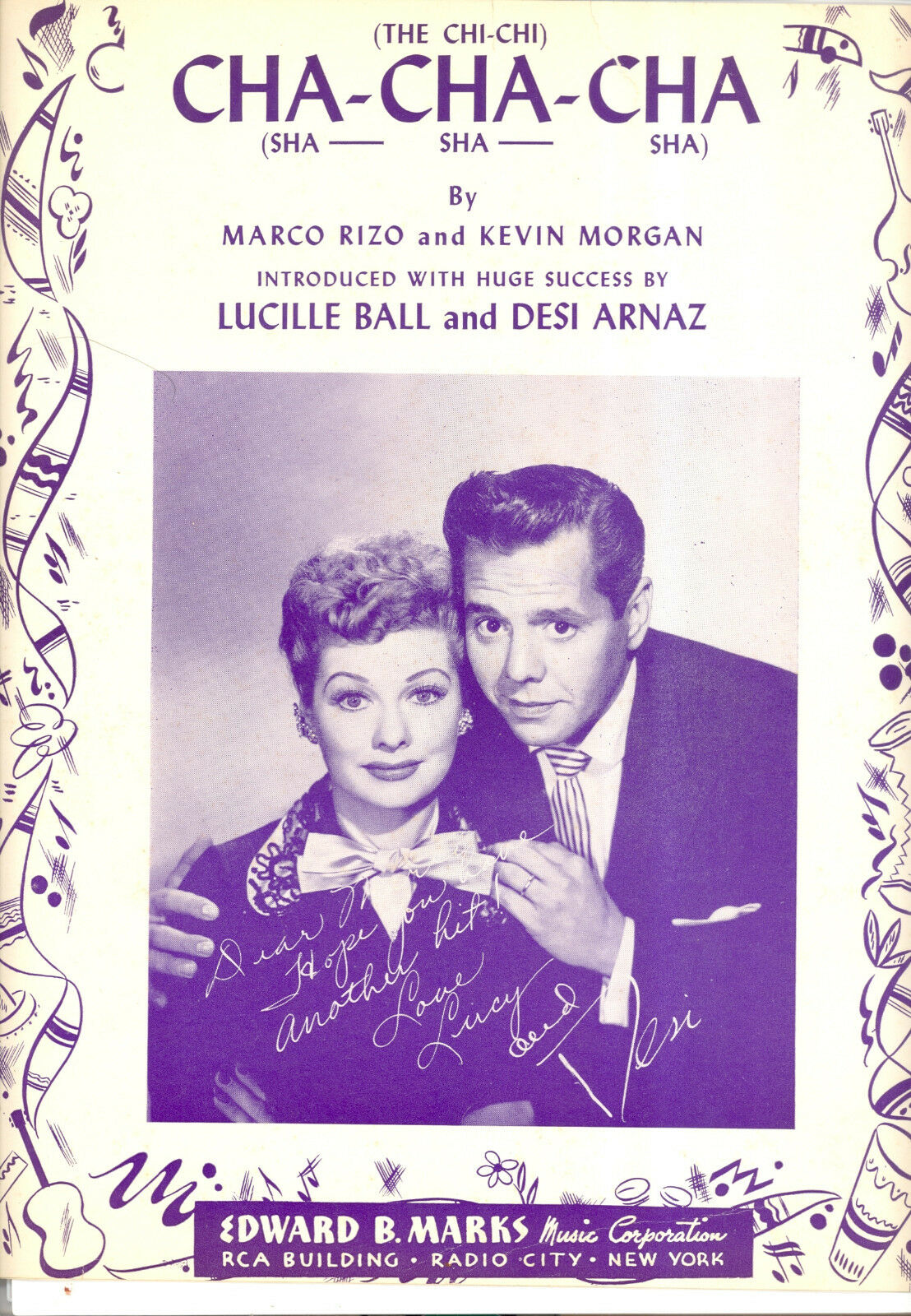 LUCILLE BALL DESI ARNAZ Sheet Music