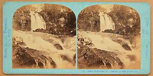 Cascade Del Ponte Spagna Pirenei Foto Lamy Vintage Albumina Ca 1870