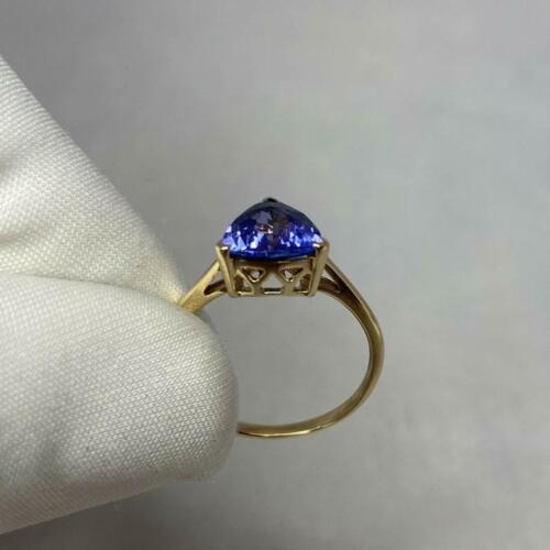Details about  /Sterling Silver Ring Women Ring Engagement Tanzanite Ring Blue Gemstone Ring