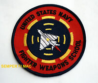 US NAVY FIGHTER WEAPON SCHOOL TOP GUN PATCH BADGE F14 TOMCAT MAVERICK ICEMAN USS