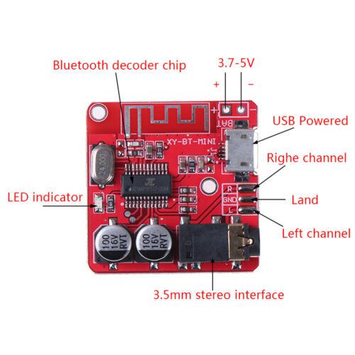3,7-5 V Wireless Bluetooth MP3 Decoder Board Verlustfreie Decoder-Modul TF-WXJ