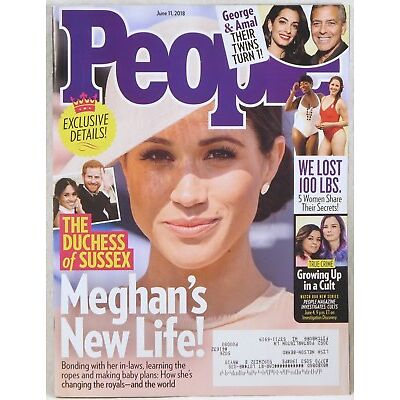 PEOPLE MAGAZINE June 11, 2018 ROYAL WEDDING Meghan's New Life DUCHESS OF SUSSEX