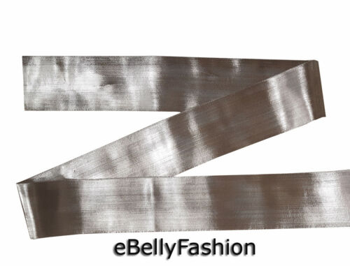 """2.5/"""" Wide sari border zari Silver color Decorative ribbon trim 9 Yard India"""