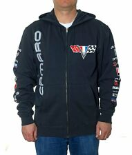 "Chevy Camaro Zip Hoodie Jacket Charcoal Grey Colored Printed Logos  ""SALE PRICE"""