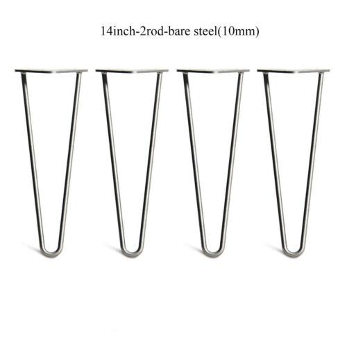 "4x Solid Steel Hairpin Table Legs Heavy Duty Haipin Legs 2 or 3 Rod 4/"" 28 inch"