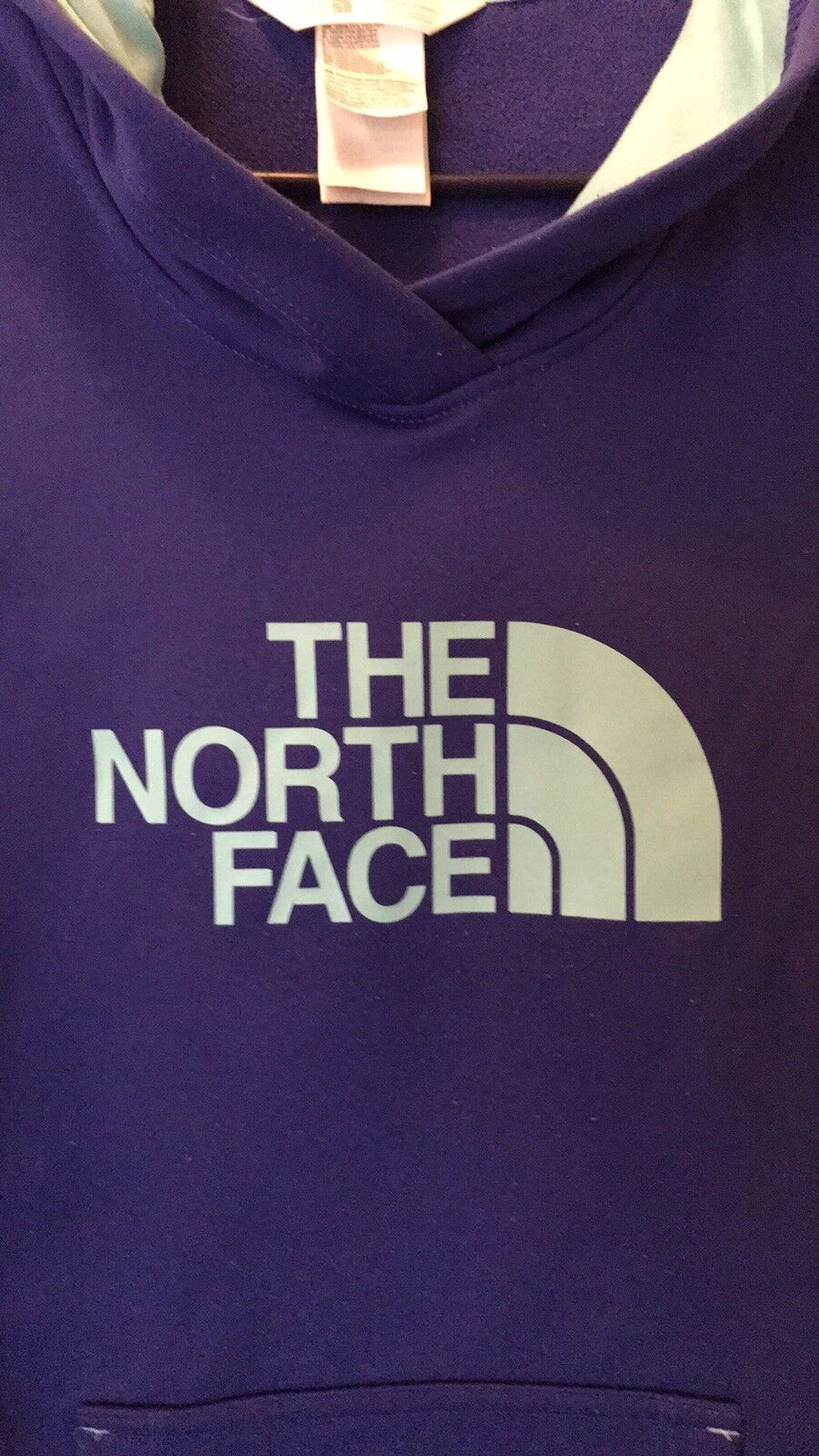 Womens The North North North Face Hoodie medium blueish Purple color Excellent Condition 476498