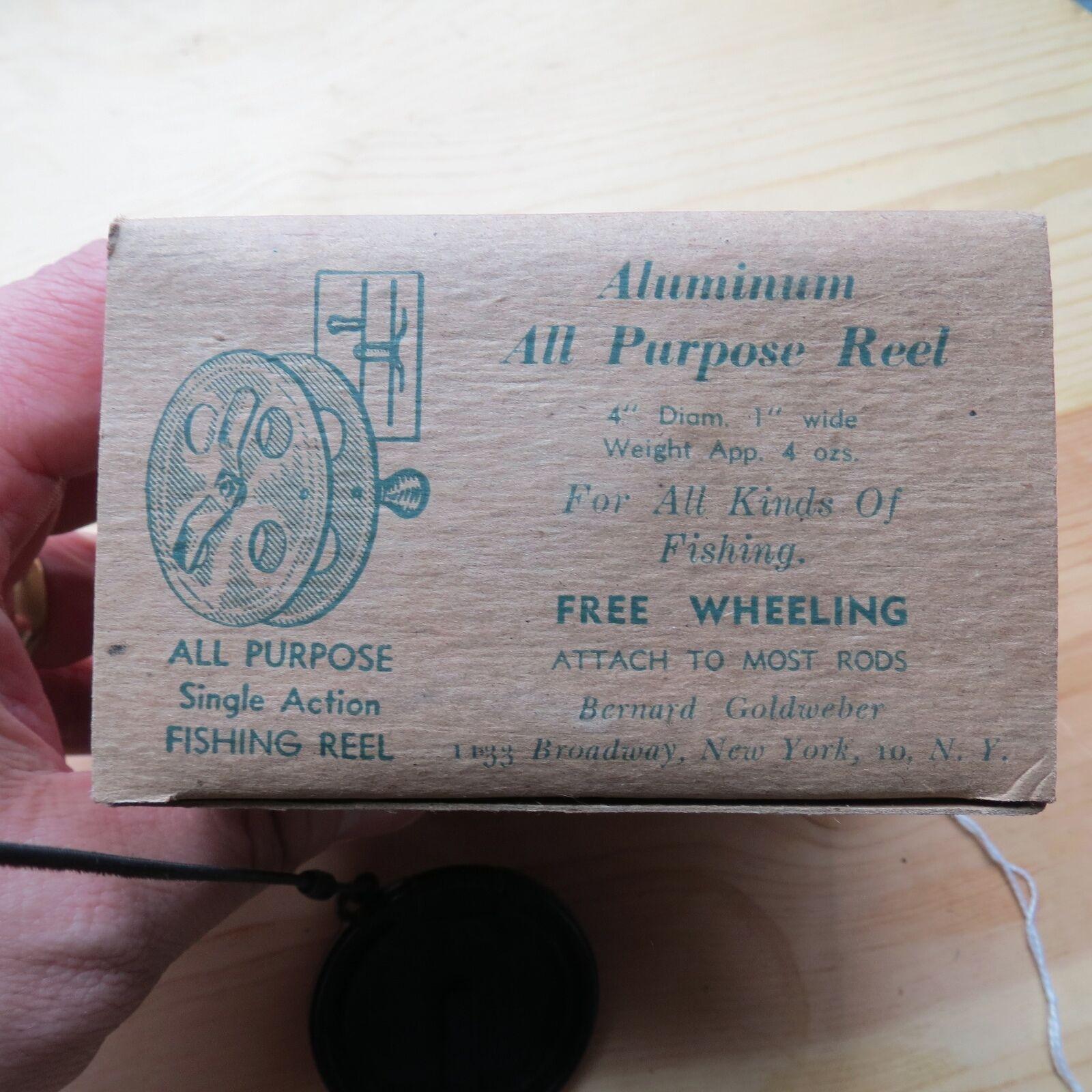 Vintage Rare fishing reel Bernard  goldweber All Purpose reel (lot)  new products novelty items