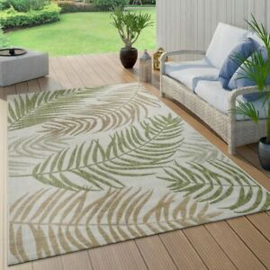 In-amp-Outdoor-Teppich-Flachgewebe-Modern-Jungle-Palmen-Design-In-Pastell-Gruen