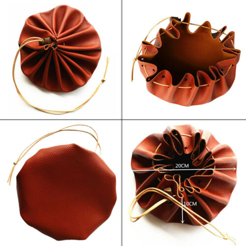 Survival Bag Gift Possibles Tinder Leather Drawstring Pouch Large