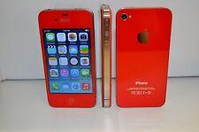 iPhone 4-8GB (AT&T) Custom Red  Straight talk  Cricket H2O