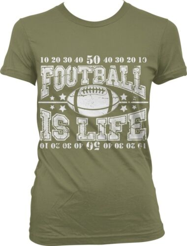 Football Is Life Sports Field American Athlete Fantasy Football Juniors T-shirt
