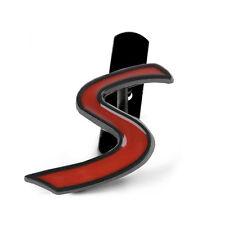 1 Pcs Red Black S Grill Alloy Sticker Badge Emblem For MINI Cooper (US STOCK)