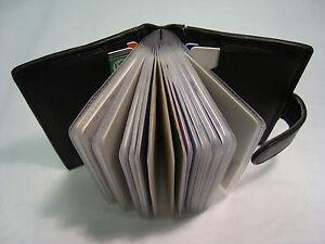 Real-Leather-Credit-Card-Holder-Black-for-15-Cards-Best-Seller-Wallet-on-Ebay