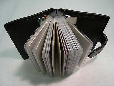 Real Leather Credit Card Holder Black for 15 Cards, Best Seller Wallet on Ebay