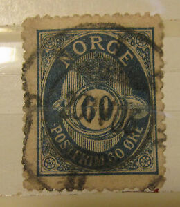 Norway stamp #58 used F/VF