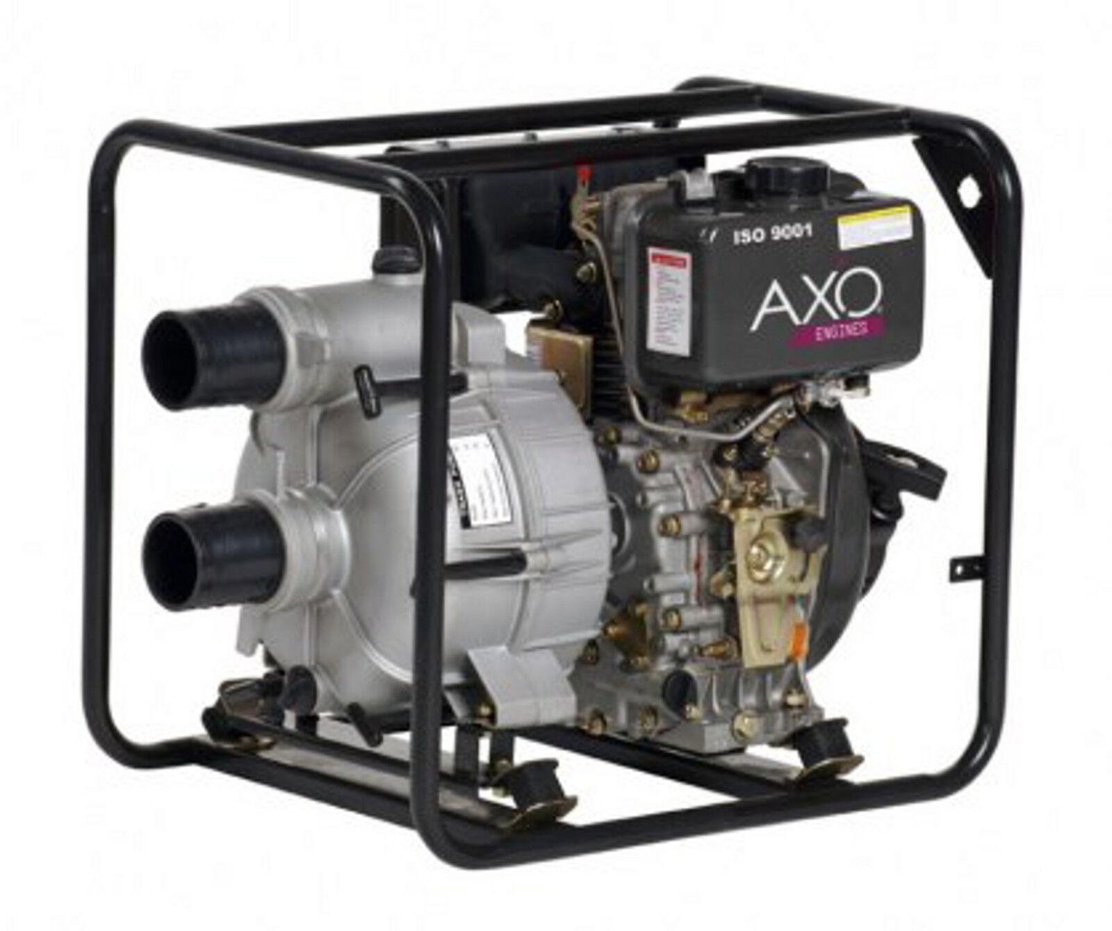 MOTOPOMPA TRASH AXO AMTR D80 1 PER ACQUE SPORCHE-DIESEL - 6,7HP - 2,5 LT -OTTIMO