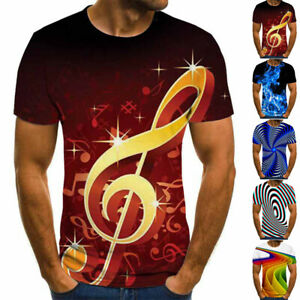 Funny-Music-3D-T-Shirt-Women-Men-Colorful-Print-Casual-Short-Sleeve-Tee-Tops