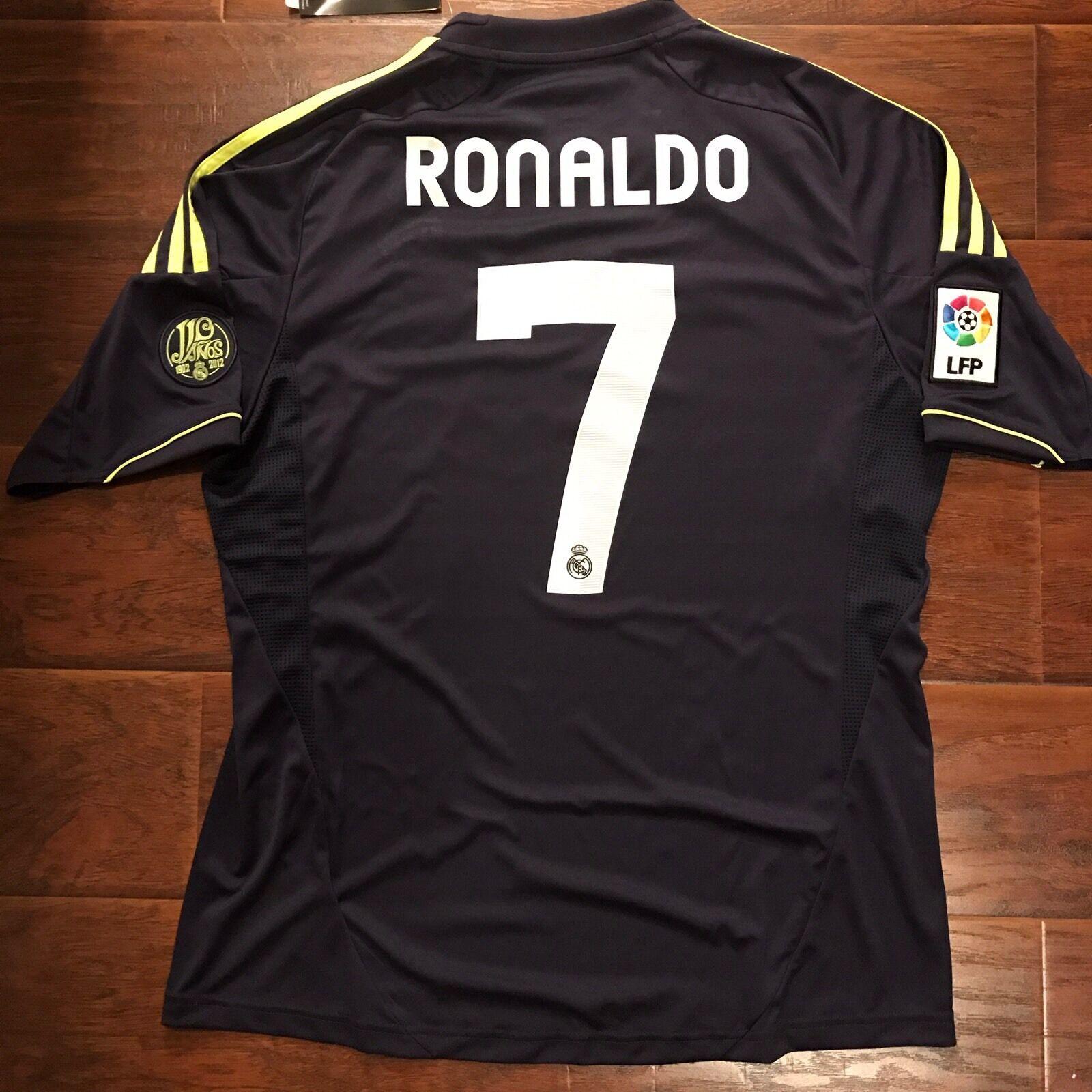 2012 13 Real Madrid Away Jersey Ronaldo Large Adidas Football Soccer NEW