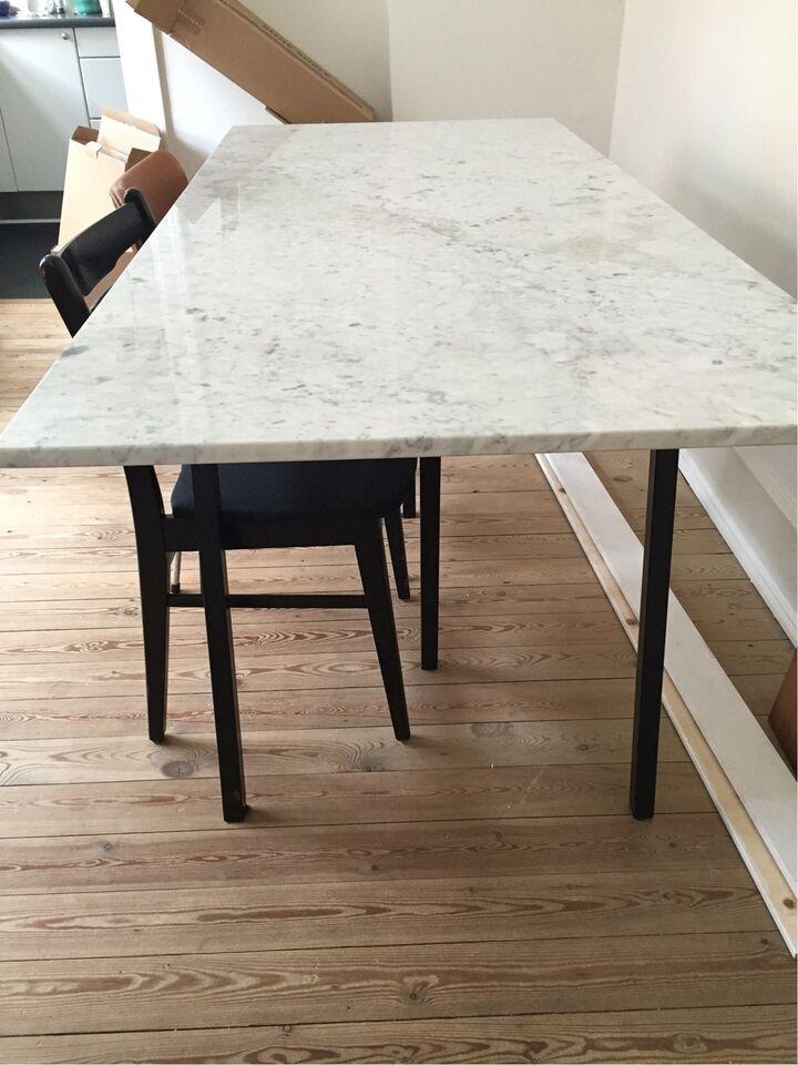 marmor spisebord Spisebord, Marmor, b: 80 l: 180 – dba.dk – Køb og Salg af Nyt og Brugt marmor spisebord