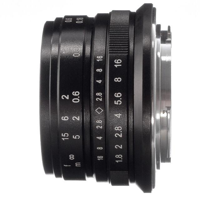 25mm F/1.8 MF Manual Focus Lens For Canon EOS M EF-M Mount M100 M10 M6 M5 Camera