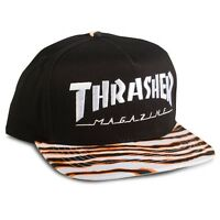 Thrasher Magazine Tiger Stripe Skate Mag Snapback Skateboard Hat on Sale