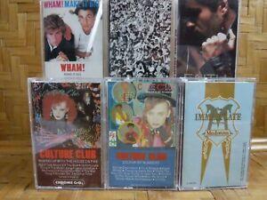 Cassette Tape Lot x 6 WHAM! GEORGE MICHAEL CULTURE CLUB MADONNA Vintage POP