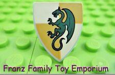 LEGO Minifig Dragon Shield Dark Green/Yellow Castle Kingdom 7947 7946 7189 6918