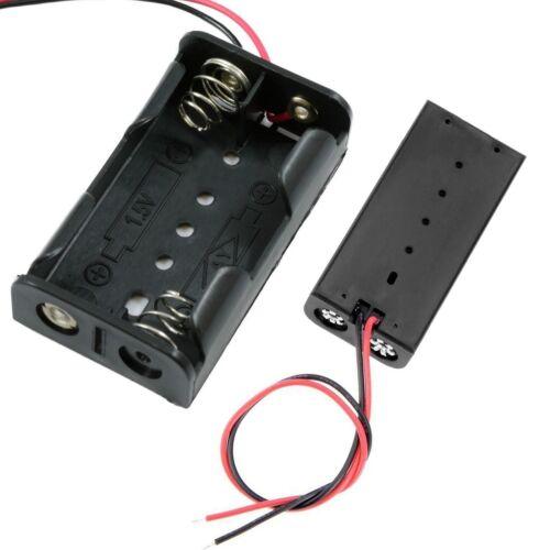 1,5 V AA x 2 Öffnen Batterie Halter Box Mit 150mm Kabel Draht Kabelstecker Neu