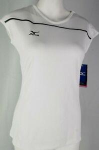 Womens-Mizuno-White-Performance-Volleyball-Jersey-XS-T3