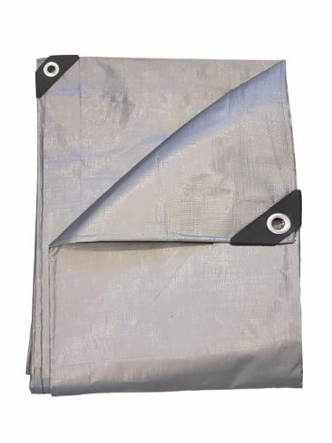 14 Mil HD Extra Thick 3-Layer Silver Tarp