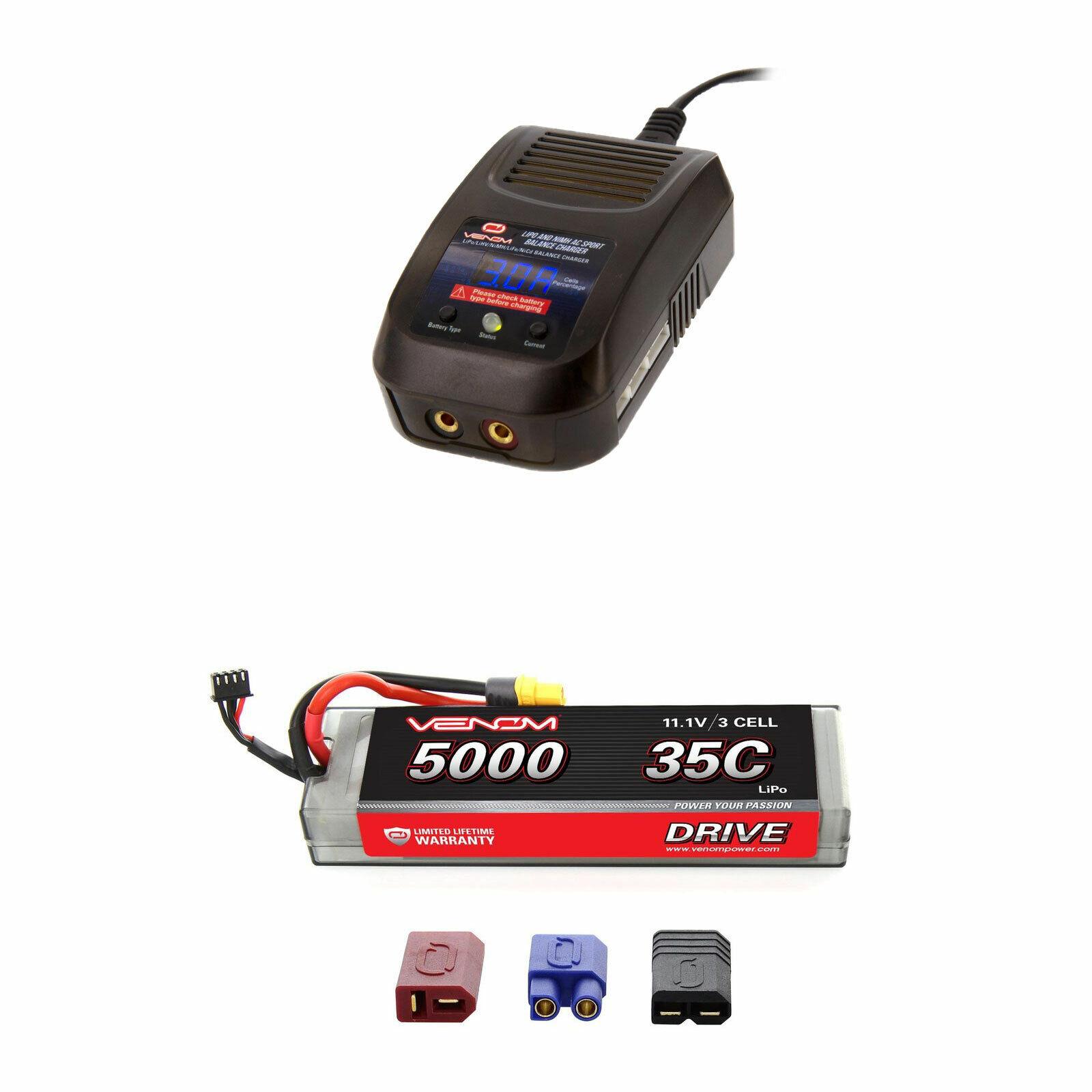 il più recente Venom 35C 3S 11.1v 11.1v 11.1v 5000mAh LiPo Hardcase Battery e Sport Charger Combo  design semplice e generoso