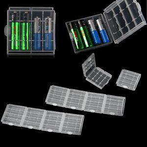 10-PCS-Hard-Plastic-Clear-AA-AAA-Battery-Box-Storage-Case-Cover-Holder-Organizer