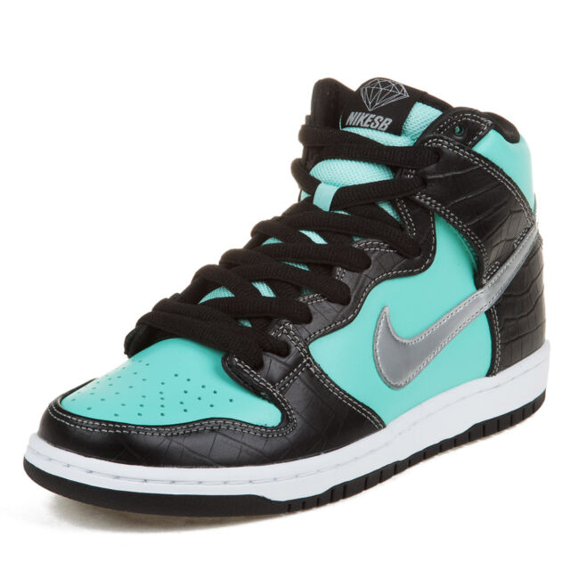 bba84f0c77 Nike Dunk High Premium SB 12 Aqua Chrome Black Diamond Supply Co ...