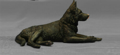 1:6 German Shepherd Dog Animal Figure Model Resin Toy Collection Female Male New