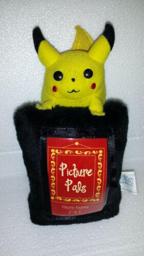 "Pokemon Pikachu Picture Pal Frame 7/"" NEW Plush Trading Card Toy 1998 BONUS"