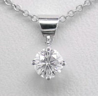 0.20ct Diamond Solitaire Platinum Pendant Certified D IF Round Brilliant & Chain