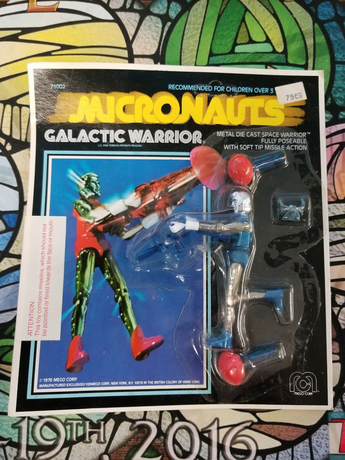 Micronauts Galactic Warrior Blau Mego Corp. 1976 3.75-in MOC Unpunched SAAH07