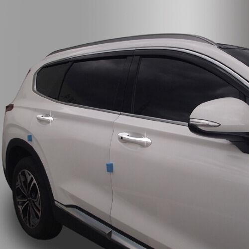 Chrome Door Handle Catch Molding Trim Cover for 2018 2019 Hyundai Santa Fe