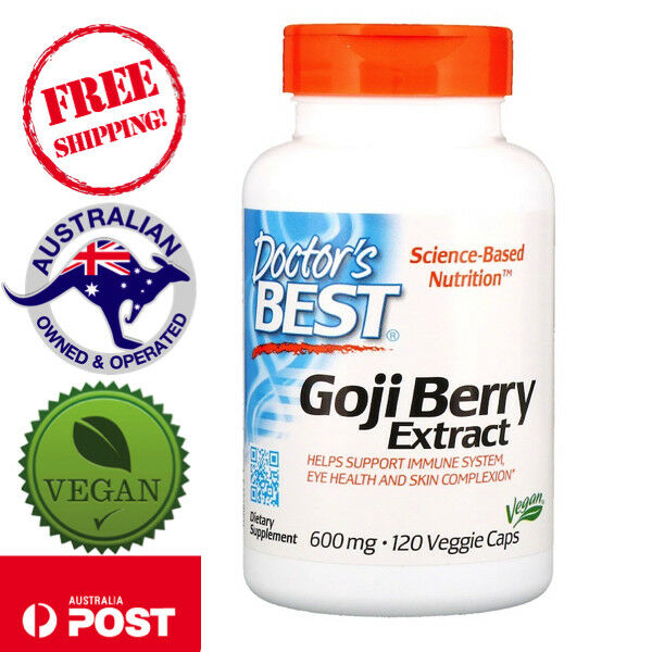 Doctor's Best, Best Goji Berry Extract 600 mg, 120 Vegan Capsules
