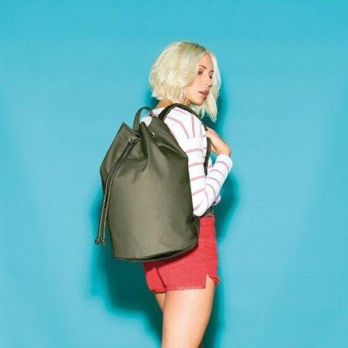 BG127 BagBase Original Drawstring Backpack Bag Men/'s Women/'s Travel Rucksack