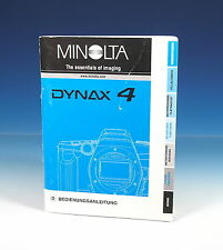 MINOLTA DYNAX 4 Bedienungsanleitung german manual - (101263)