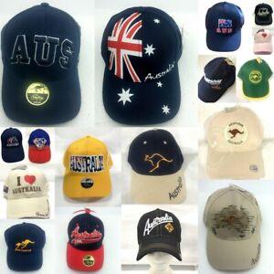 Adults-Mens-Unisex-Cap-Hat-Baseball-Cap-Cotton-Flag-Australian-Day-Souvenir