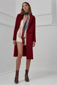 Mid Off S Jacket Wool Raspberry Felt meo C Xs Better Coat Length Red Fit Box EYBn0wqx